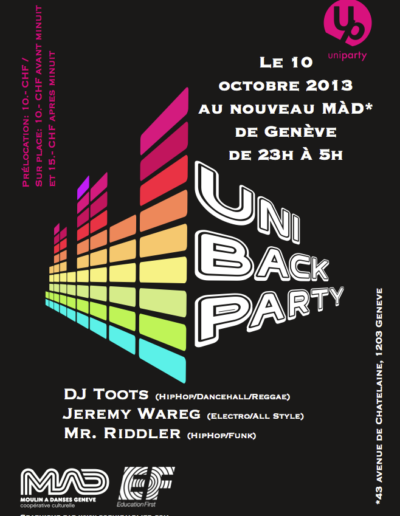 UniBackParty 2013